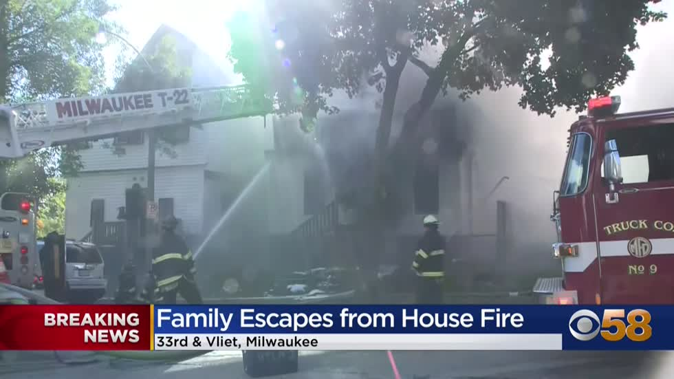 Family escapes from house fire near 33rd and Vliet